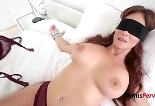 Blindfolded mummy thinks it's her economize on
