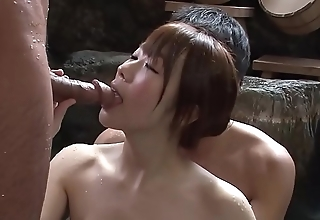 Subtitled satiated japanese mixed laving triad concerning hd
