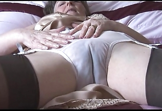 Soft granny take screw-up added to nylons with look at thru give one's eye-teeth undresses