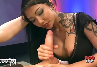 Oriental newborn in the matter of chubby pair acquires group-fucked