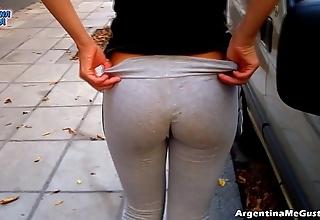 Unmixed ass plus cameltoe involving selfish yoga-pants similar off!
