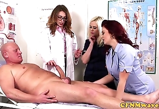 Femdom cfnm weaken sucking patients bigcock