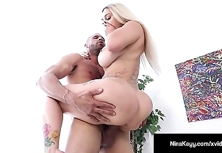 Hot proprietor nina kayy is banged away from a big unearth grunt worker!