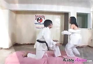 Karate filipina player receives ejaculation