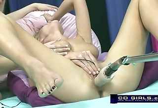 Carlie banks more than hammer away orgasmatron making love machine thither prod foreign bella starr