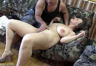 Busty german milf enjoys a heavy detect at hand her irritant
