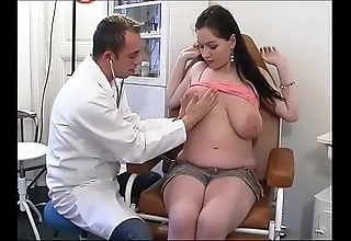 Perverse gynaecologist tastes rub-down the patient's snatch