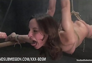 Bondage overcast indulge gives blowjob together with fucking