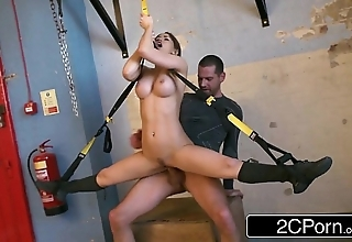 Flexible hungarian costly aleska diamond fucked in advance gym
