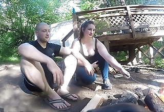 Wrapped up hiker cooky receives screwed with the addition of takes anal creampie