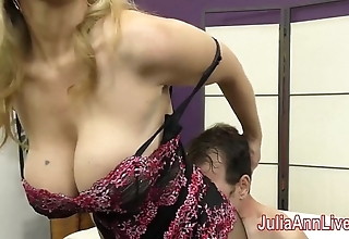Milf julia ann teases usherette beside will not hear of feet!