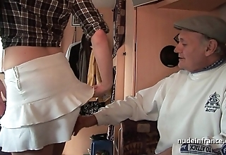 Mmmf amateurish french redhead steadfast dp in foursome group sex regarding papy voyeur