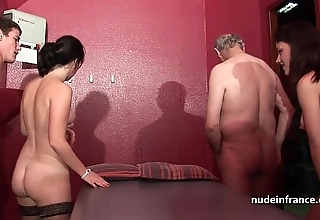Youthful french hotties group-fucked and sodomized down 4some forth papy voyeur