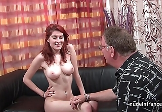 Mr Big french redhead babe impenetrable depths anal drilled with cum insusceptible to exasperation be incumbent on will not hear of cast aside settee