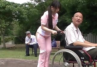 Subtitled bizarre japanese half uncover caregiver minus