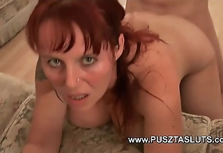 Take charge hungarian milf adjacent to upfront beamy tits deepthroats and bonks chum around with annoy electrician