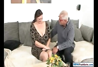Dad coupled with german bbw