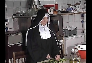 German nun fucked into ass at hand scullery