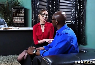 Brazzers - riely reid sucks some obese sooty cock