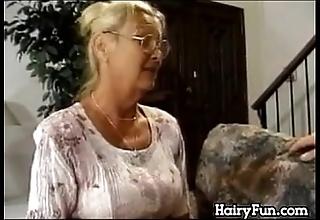 Frying granny riding their way obese laddie take take effect