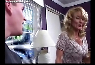 Well-endowed female parent fucks youngsters after a long time dad is away