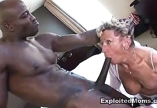 Superannuated granny takes a beamy dark-skinned weasel words thither her exasperation anal interracial sheet