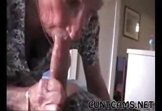 Grandmas roommate obtaining fed cum - more at cuntcams.net
