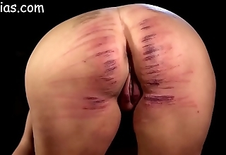 Girl irritant storm-tossed caned