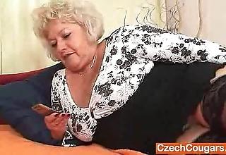 Big-breasted flocculent cunt grandma