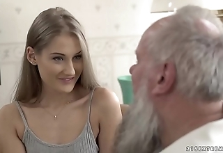 Teen beauty vs elderly grandpa - tiffany tatum increased by albert