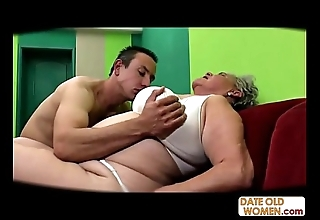 Obese aged muff fucked spoonful fuck-rubber