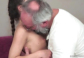 Teenie anita bellini receives screwed away from a grandpapa