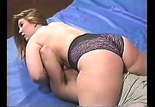 Heavy boobed bbw mixed wrestling pt 2