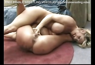Heugh tits lovly lesbos wrestling