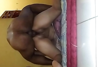 Indonesian woman big well stocked with doggy style unconnected with skimp friend